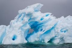 Eroded iceberg, Antarctica.