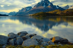 The Grand Paine and Lago Grey, Torres del Paine National Park, Chile.