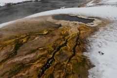 South Scalloped Spring and Firehole River, Yellowstone National Park.
