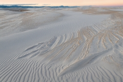Ripple pattern in gypsum dune, White Sands National Park, New Mexico.