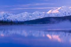 The Alaska Range and Wonder Lake, Denali National Park, Alaska.