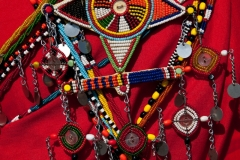Beadwork on Masai moran, Kenya.
