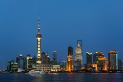 Pudong skyline, Shanghai, China.