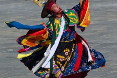 Black hat dancer, Thimphu, Bhutan.