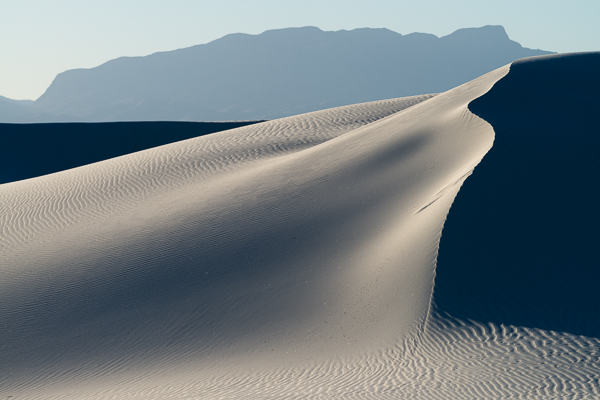 Dunes and shadows, White Sands National Monument.