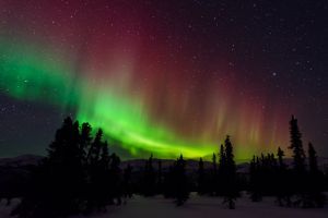 Aurora borealis, the northern lights, Alaska.