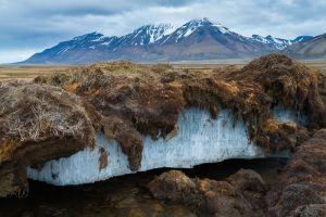 Melting permafrost, Spitsbergen.