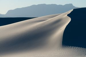 Dune and shadows, White Sands National Monument, New Mexico.
