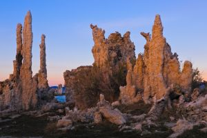 Tufa formations at sunrise, Mono Lake, California.