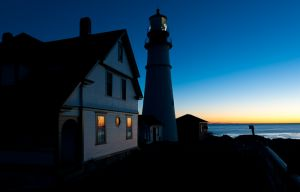Portland Head Lighthouse at dawn, Portland, Maine.