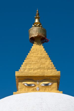 Chorten at Sangchhen Dorji Lhuendrup lhakhang nunnery, near Punakha, Bhutan.