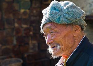 Old farmer, Bhutan.