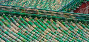 Roof tiles, Temple of Heaven complex, Beijing.