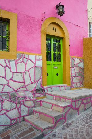 House entrance, Guanajuato, Mexico.