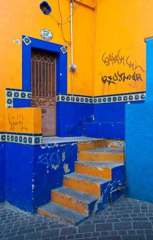 The colors of Guanajuato, Mexico.