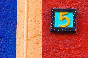 House number; Guanajuato, Mexico.