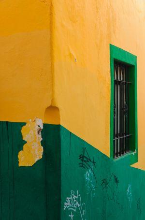 Corner of building, Guanajuato, Mexico.