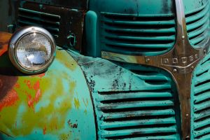 Detail of old Dodge truck, Washington.