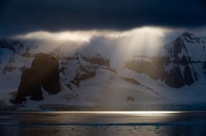 Early morning storm in the Gerlache Strait.