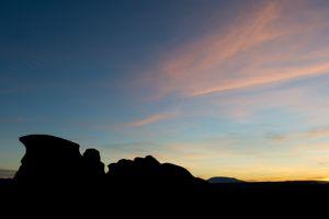 Hoodoos at sunrise
