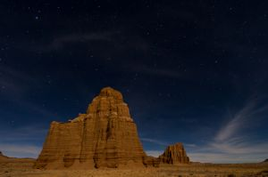 Temple of the Moon by moonlight
