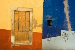 Bright colors and graffiti, Guanajuato, Mexico.