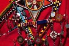 Beadwork on Masai moran, Kenya.