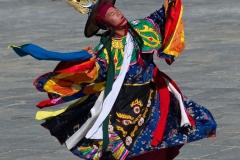 Black hat dancer, Thimphu, Bhutan.