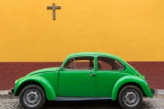 VW and cross, Mexico.